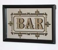 VINTAGE STYLE 'BAR' WALL MIRROR
